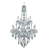 Fleur Illumination Collection Chandelier D:33in H:52in Lt:15 Chrome Finish
