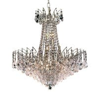 Fleur Illumination Collection Chandelier D:24in H:24in Lt:11 Chrome Finish