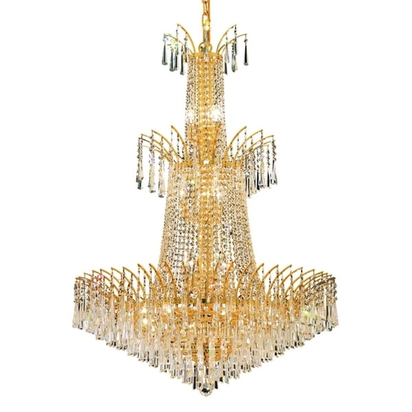 Fleur Illumination Collection Chandelier D:32in H:43in Lt:18 Gold Finish