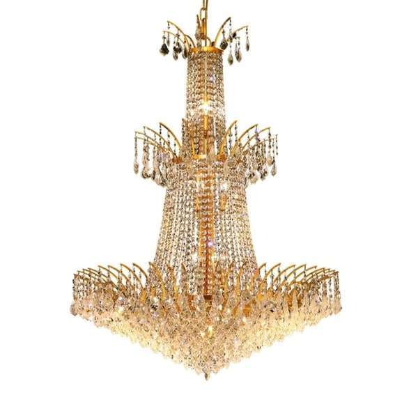 Fleur Illumination Collection Chandelier D:32in H:42in Lt:18 Gold Finish
