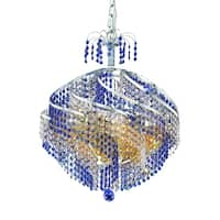Fleur Illumination Collection Chandelier D:22in H:21in Lt:10 Chrome Finish