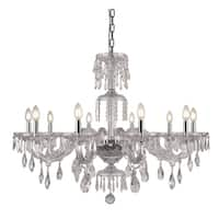 Fleur Illumination Collection Chandelier D:38in H:28in Lt:10 Chrome Finish - royal cut crystals