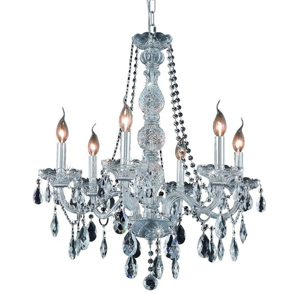 Fleur Illumination Collection Chandelier D:24in H:28in Lt:6 Chrome Finish
