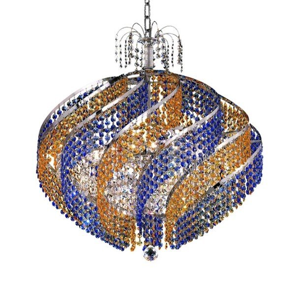Fleur Illumination Collection Chandelier D:26in H:25in Lt:15 Chrome Finish
