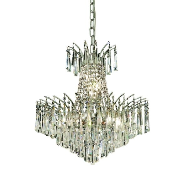 Fleur Illumination Collection Pendant D:19in H:19in Lt:8 Chrome Finish