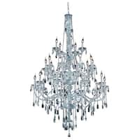 Fleur Illumination Collection Chandelier D:43in H:57in Lt:25 Chrome Finish