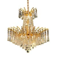 Fleur Illumination Collection Pendant D:19in H:19in Lt:8 Gold Finish