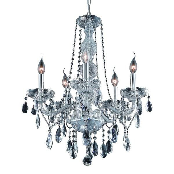 Fleur Illumination Collection Chandelier D:21in H:26in Lt:5 Chrome Finish