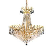 Fleur Illumination Collection Chandelier D:24in H:24in Lt:11 Gold Finish