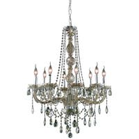 Fleur Illumination Collection Chandelier D:28in H:34in Lt:8 Golden Teak Finish
