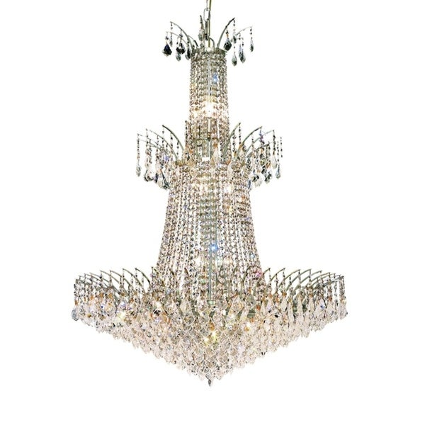 Fleur Illumination Collection Chandelier D:32in H:42in Lt:18 Chrome Finish