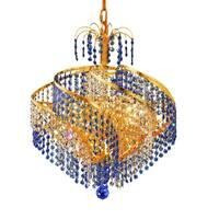 Fleur Illumination Collection Pendant D:18in H:17in Lt:8 Gold Finish