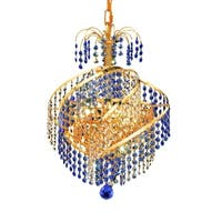 Fleur Illumination Collection Pendant D:14in H:16in Lt:3 Gold Finish
