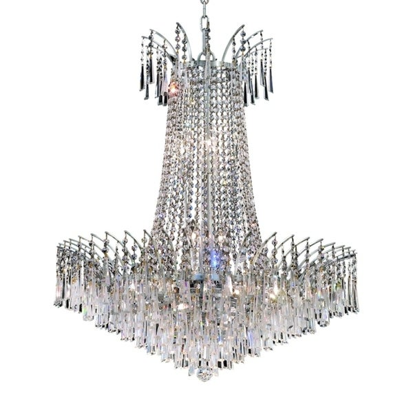 Fleur Illumination Collection Chandelier D:29in H:32in Lt:16 Chrome Finish