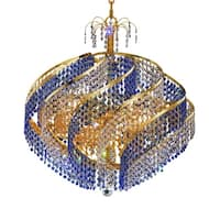 Fleur Illumination Collection Chandelier D:26in H:25in Lt:15 Gold Finish