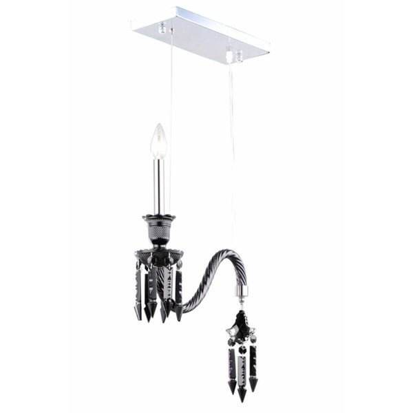 Fleur Illumination Collection Pendant D:14in H:18in Lt:1 Black Finish