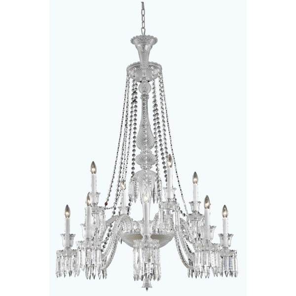 Fleur Illumination Collection Chandelier D:42in H:55in Lt:12 Chrome Finish