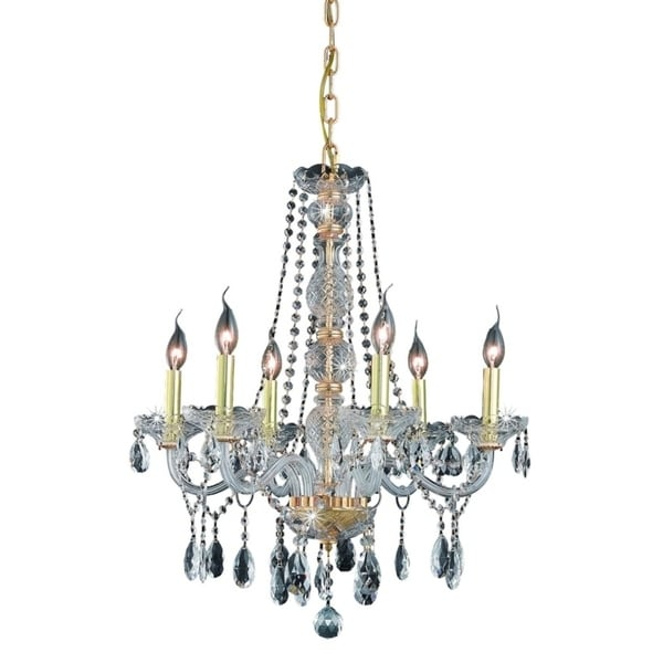 Fleur Illumination Collection Chandelier D:24in H:28in Lt:6 Gold Finish