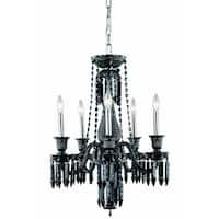 Fleur Illumination Collection Chandelier D:21in H:26in Lt:5 Black Finish - elegant cut crystals