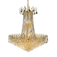 Fleur Illumination Collection Chandelier D:29in H:32in Lt:16 Gold Finish