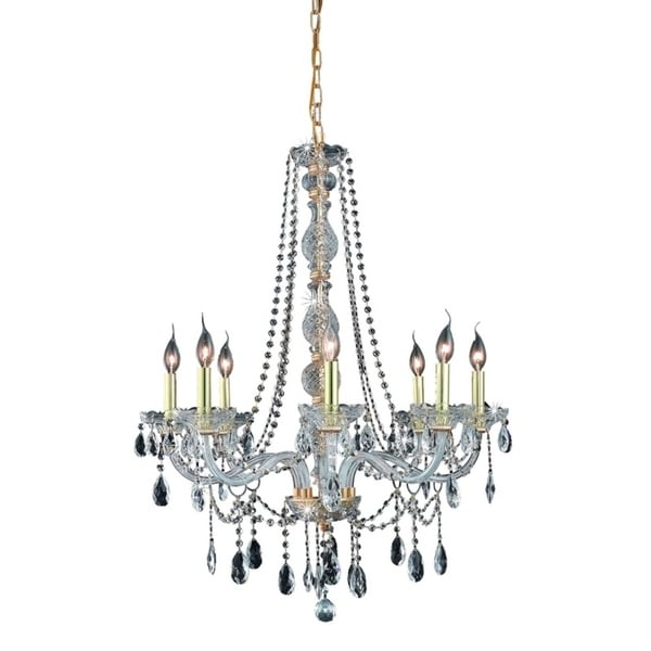 Fleur Illumination Collection Chandelier D:28in H:34in Lt:8 Gold Finish