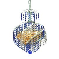 Fleur Illumination Collection Pendant D:14in H:16in Lt:3 Chrome Finish