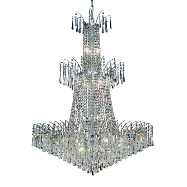 Fleur Illumination Collection Chandelier D:32in H:43in Lt:18 Chrome Finish