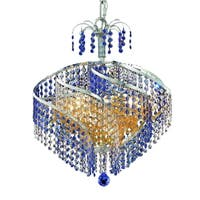 Fleur Illumination Collection Pendant D:18in H:17in Lt:8 Chrome Finish