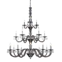 Fleur Illumination Collection Chandelier D:52in H:60.5in Lt:21 Silver Shade Finish