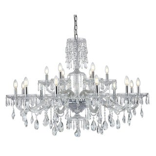 Fleur Illumination Collection Chandelier D:45in H:38in Lt:18 Chrome Finish