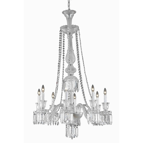 Fleur Illumination Collection Chandelier D:32in H:51in Lt:8 Chrome Finish