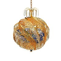 Fleur Illumination Collection Chandelier D:22in H:21in Lt:10 Gold Finish