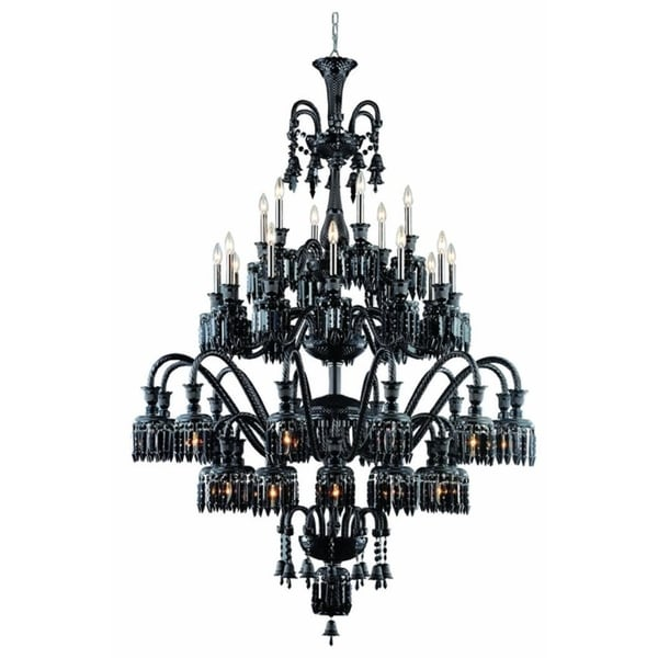 Fleur Illumination Collection 42-Light Black Finish Chandelier