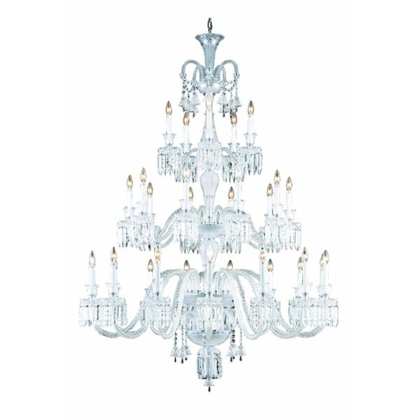 Fleur Illumination Collection Chandelier D:54in H:72in Lt:30 Chrome Finish