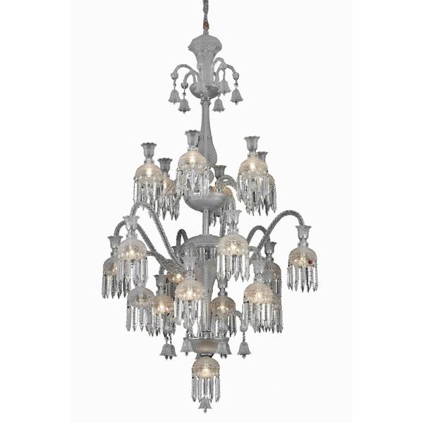 Fleur Illumination Collection 13-Light Chrome Finish Chandelier
