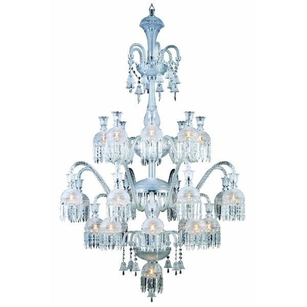 Fleur Illumination Collection Chandelier D:39in H:57in Lt:19 Chrome Finish