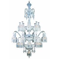 Fleur Illumination Collection Chandelier D:39in H:57in Lt:19 Chrome Finish - elegant cut crystals