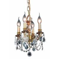 Fleur Illumination Collection Pendant D:10in H:10in Lt:4 French Gold Finish