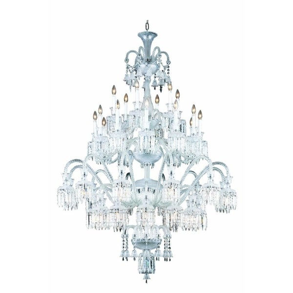 Fleur Illumination Collection Chandelier D:54in H:75in Lt:42 Chrome Finish