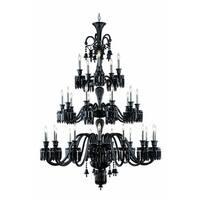 Fleur Illumination Collection Chandelier D:54in H:72in Lt:30 Black Finish - elegant cut crystals