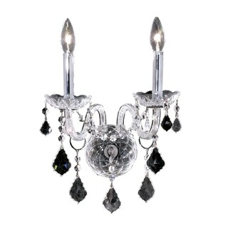 Fleur Illumination Collection Wall Sconce D:13in H:15in E:8.5in Lt:2 Chrome Finish