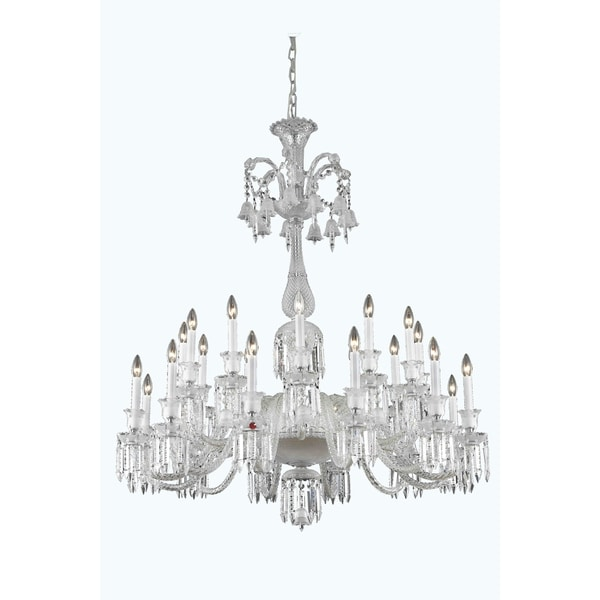 Fleur Illumination Collection Chandelier D:44in H:50in Lt:24 Chrome Finish - elegant cut crystals