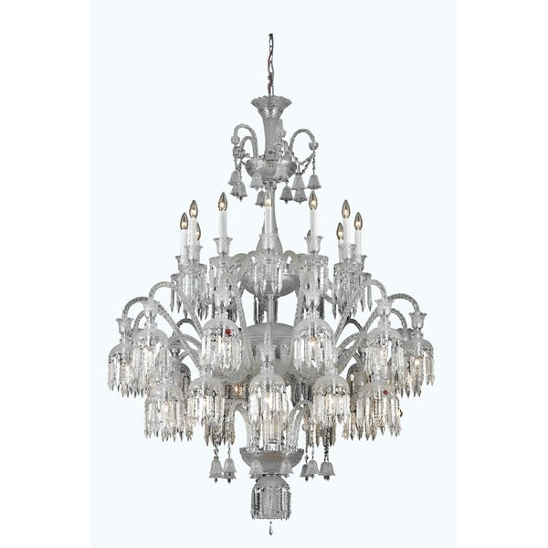 Fleur Illumination Collection Chandelier D:48in H:60in Lt:36 Chrome Finish