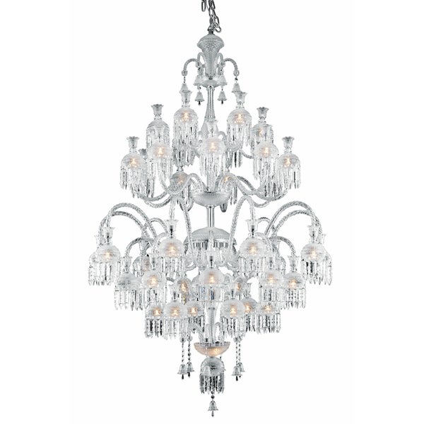 Fleur Illumination Collection Chandelier D:54in H:80in Lt:42 Chrome Finish