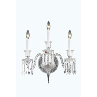 Fleur Illumination Collection Wall Sconce D:18in H:21in E:14in Lt:3 Chrome Finish - elegant cut crystals