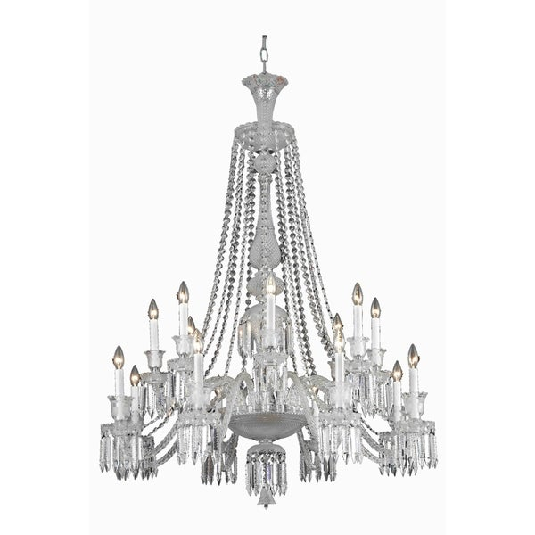 Fleur Illumination Collection Chandelier D:42in H:55in Lt:16 Chrome Finish