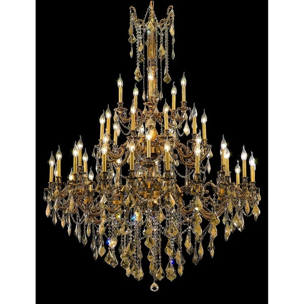 Fleur Illumination Collection Chandelier D:54in H:66in Lt:45 French Gold Finish (Royal Cut Crystals)