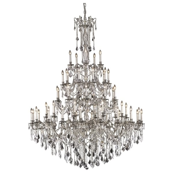 Fleur Illumination Collection Pewter Metal Crystal 55-light Chandelier