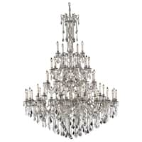Fleur Illumination Collection Chandelier D:64in H:84in Lt:55 Pewter Finish (Elegant Cut Crystals)
