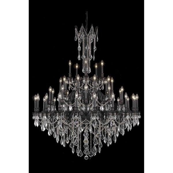 Fleur Illumination Collection Dark Bronze Crystal 45-light Chandelier